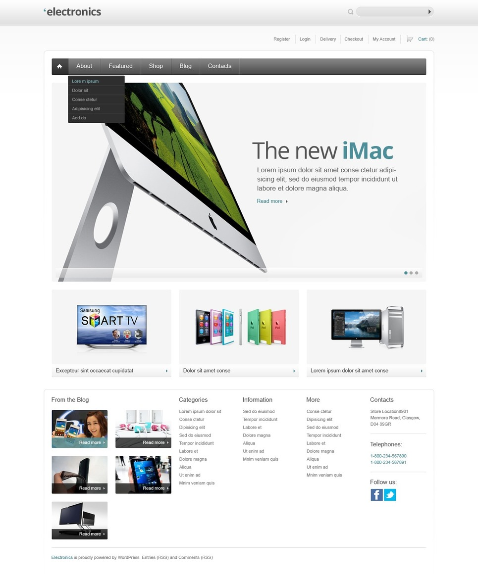 The new iMac - Ultimate Electronics Online Jigoshop Theme