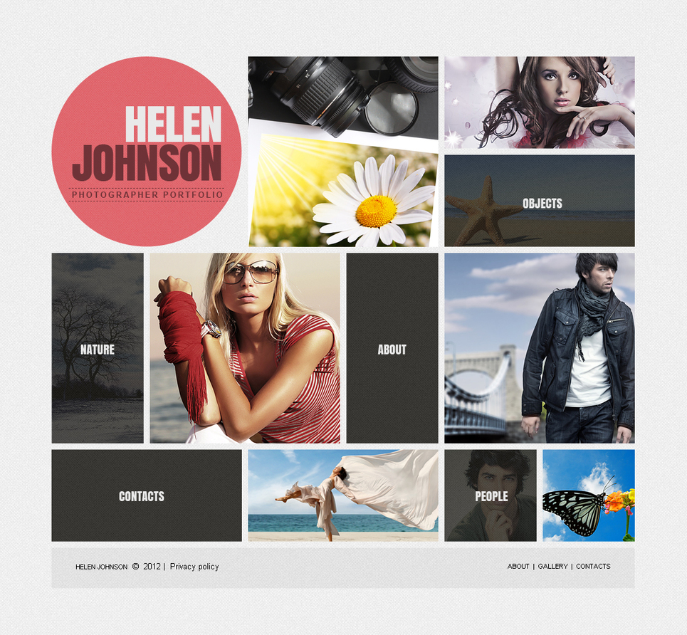 Photographer Portfolio Designed in Metro Style - image