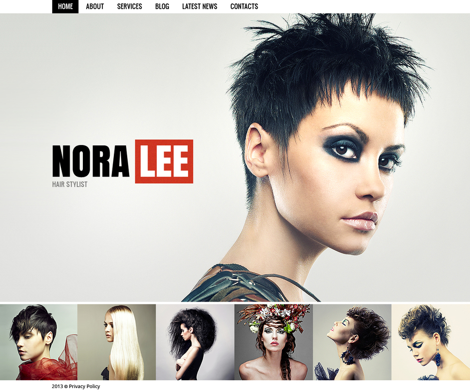 Hair Salon Template with Big Photos as a Background - image