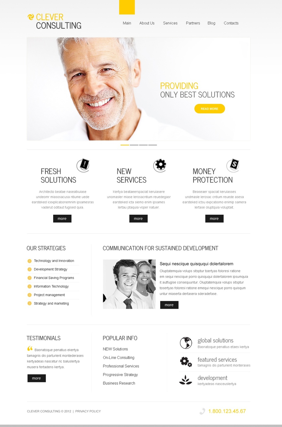 Clean Website Template for Consulting Companies - image