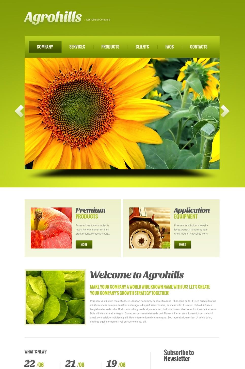 Lemon Color Website Template for Agriculture - image