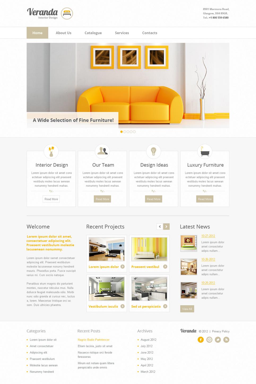 Minimal and Simple Interior Website Template - image