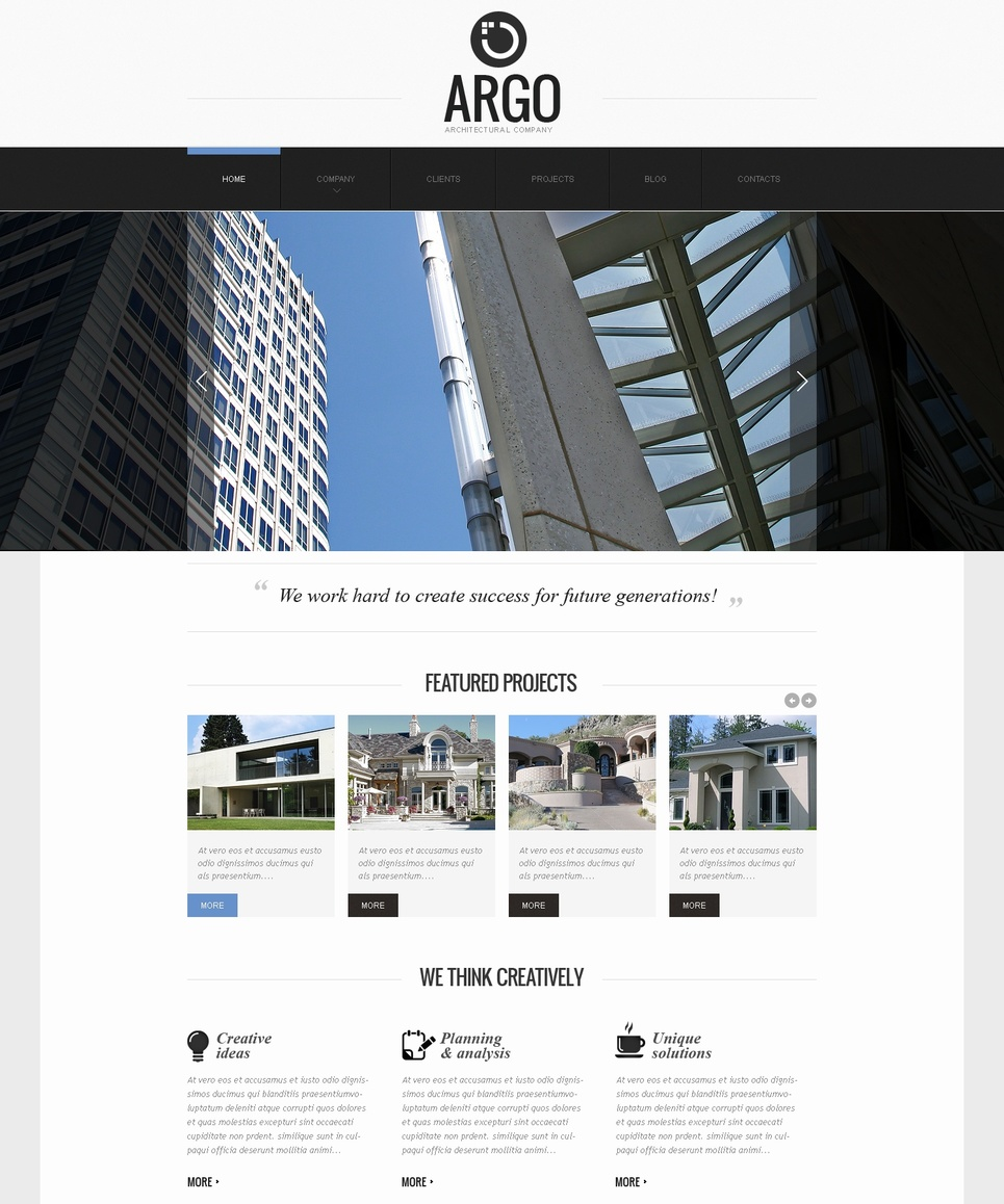 Architect Web Template with Prevailing Graphic Content - image