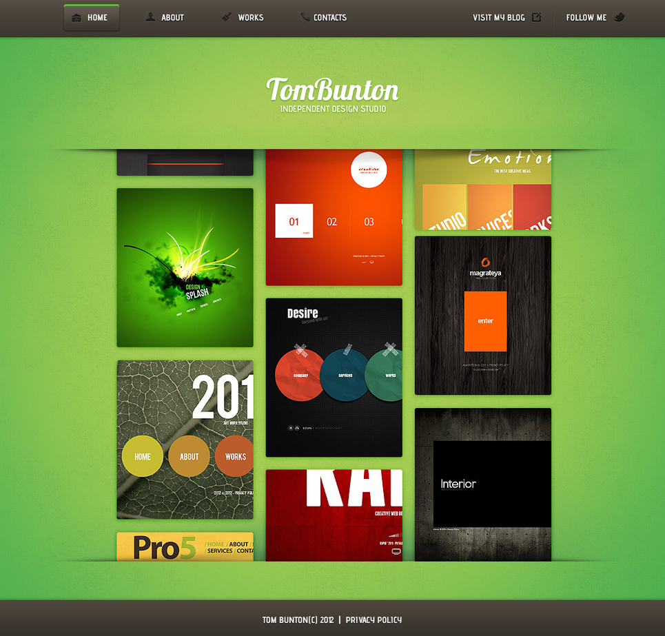 Metro Style Website Template with Vertically Scrolling Gallery - image