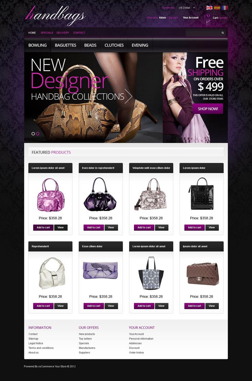 Exclusive OsCommerce Template for your Fashionable Web Store