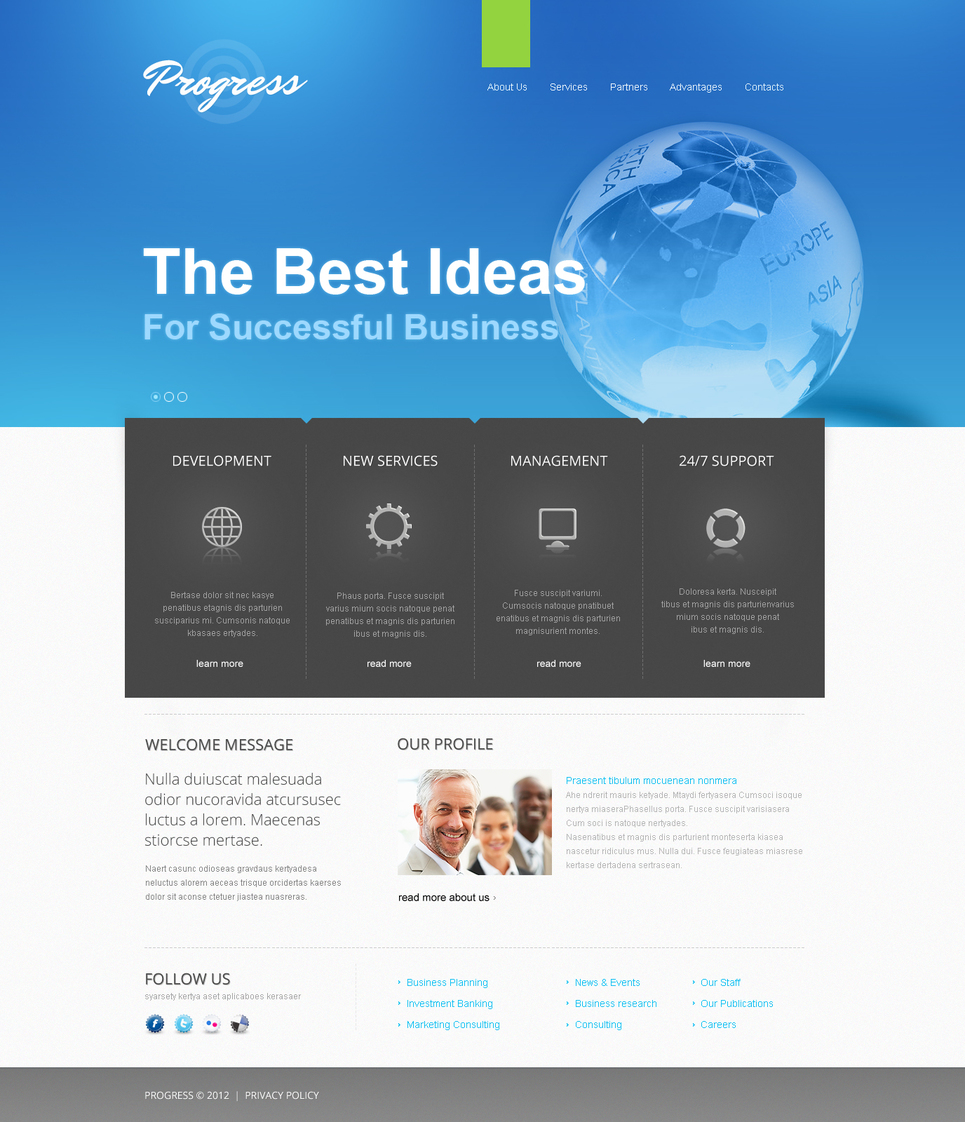 Business Web Template with a Clean Style Design - image