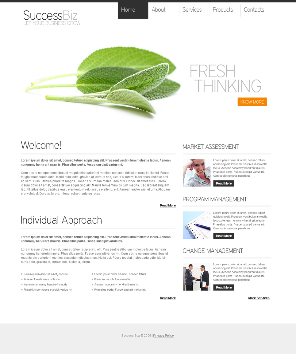 White Business Template with a Green Touch - image