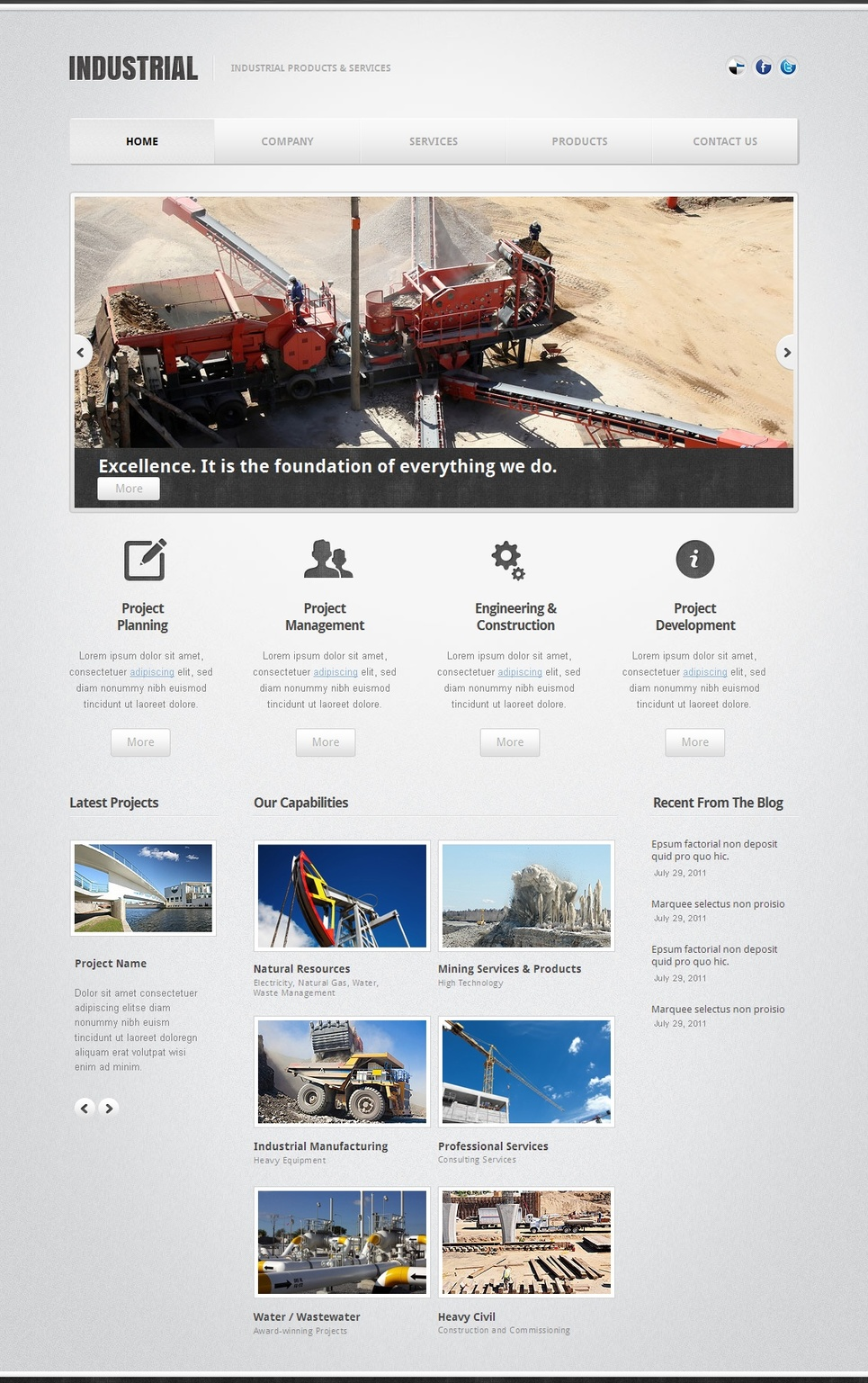 Clean Website Template for Industrial Businesses - image