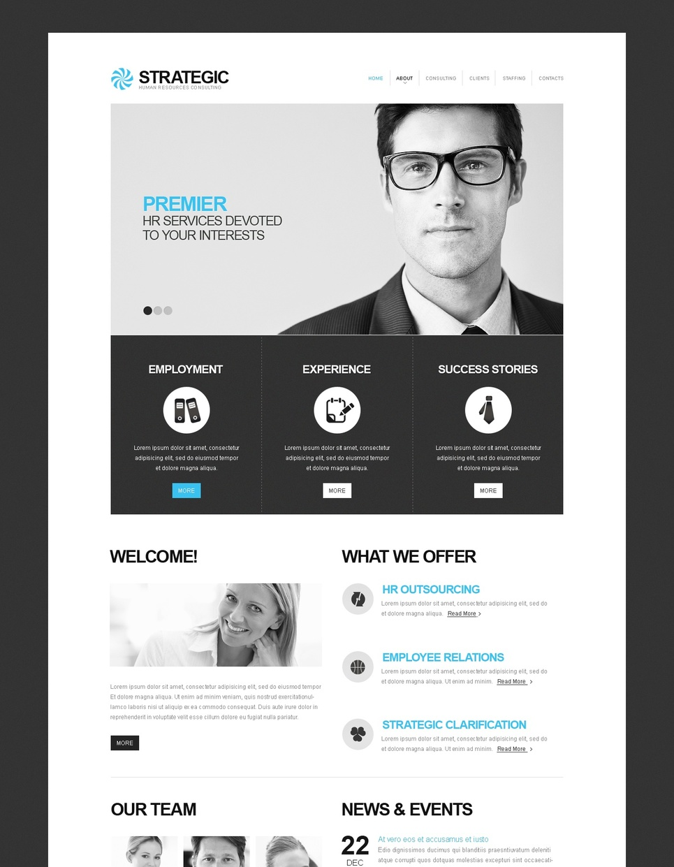 Black and White HR Consulting Template - image