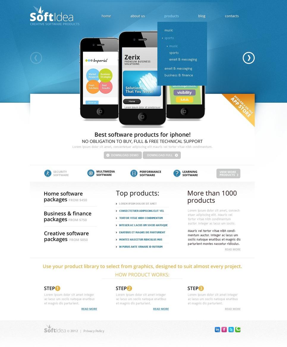 Software Facebook HTML CMS Template New Screenshots BIG