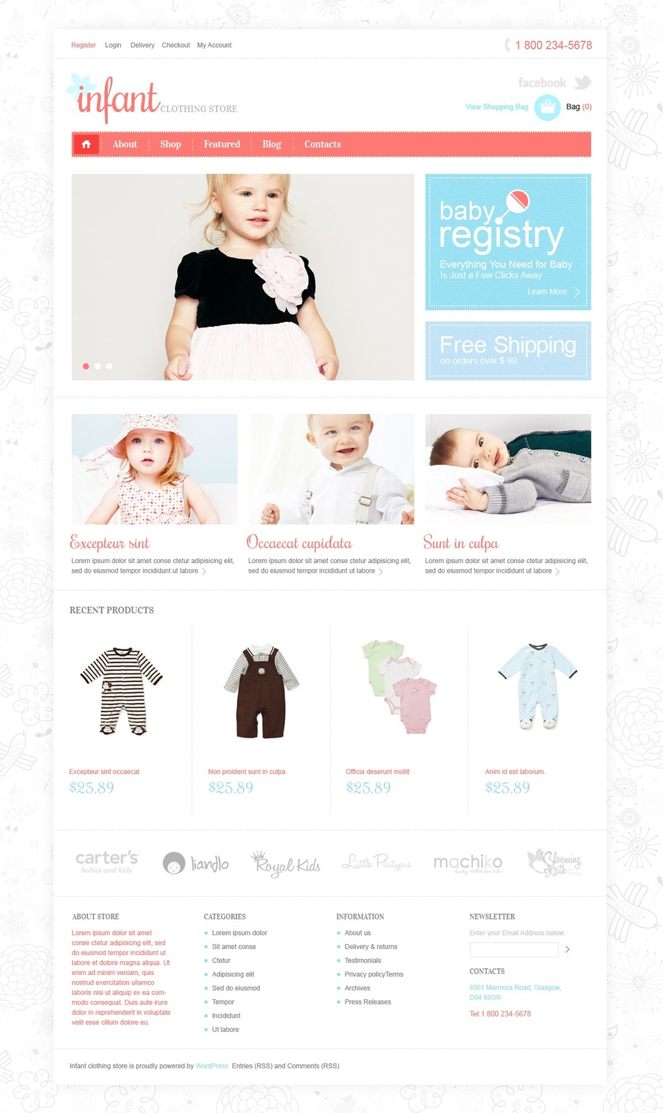 Infant - Cute Responsive Infant Store Jigoshop Theme