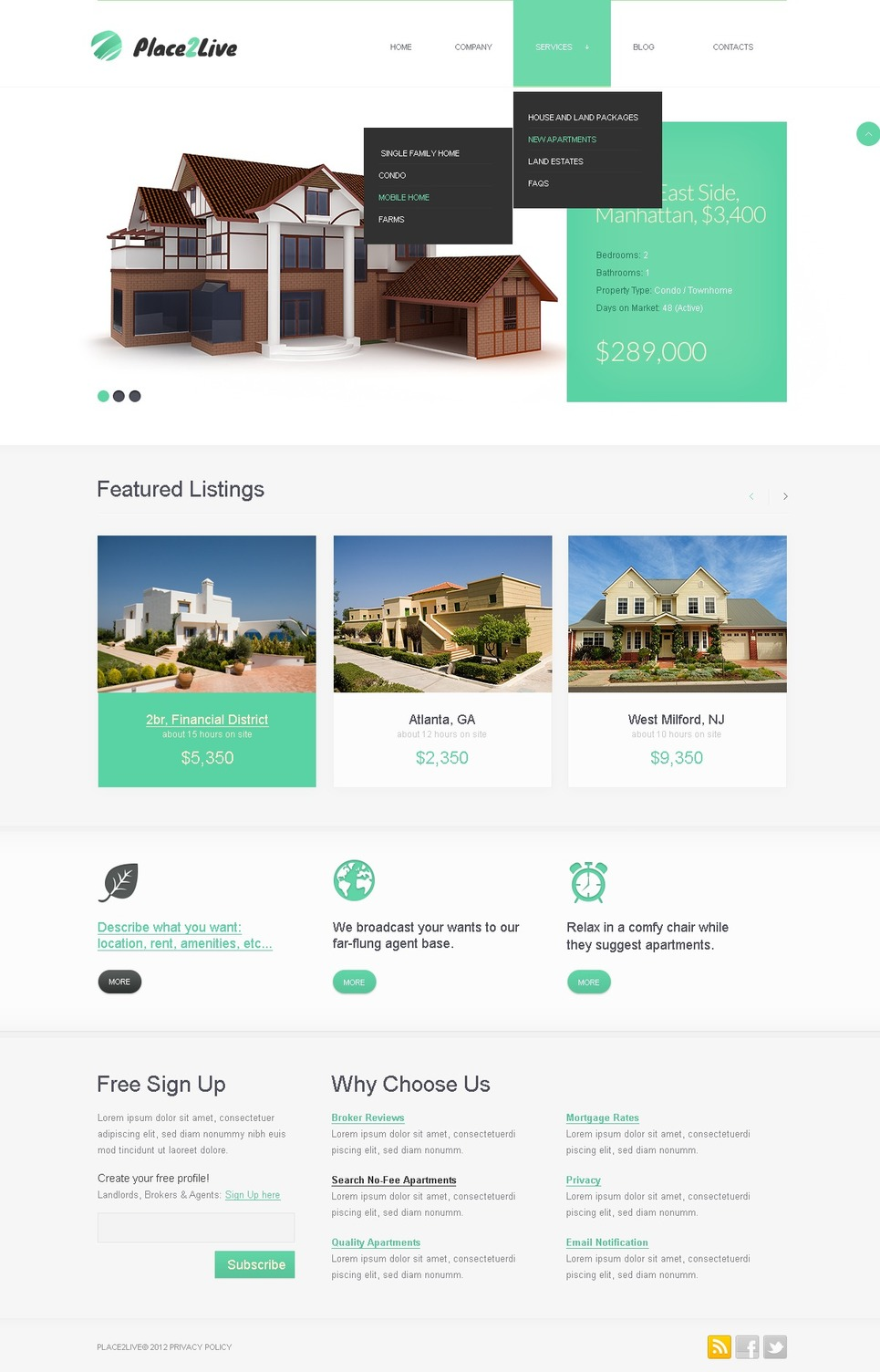 Smart Responsive Real Estate Agency Joomla Template