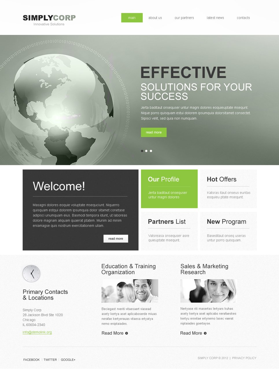 Gray Business Website Template That Looks Really Awesome - image