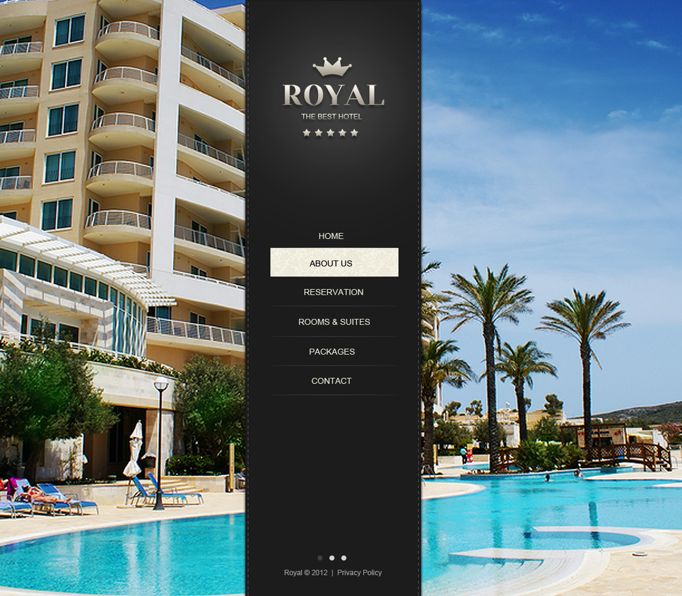 The Best Hotel Website Template with Background Gallery - image