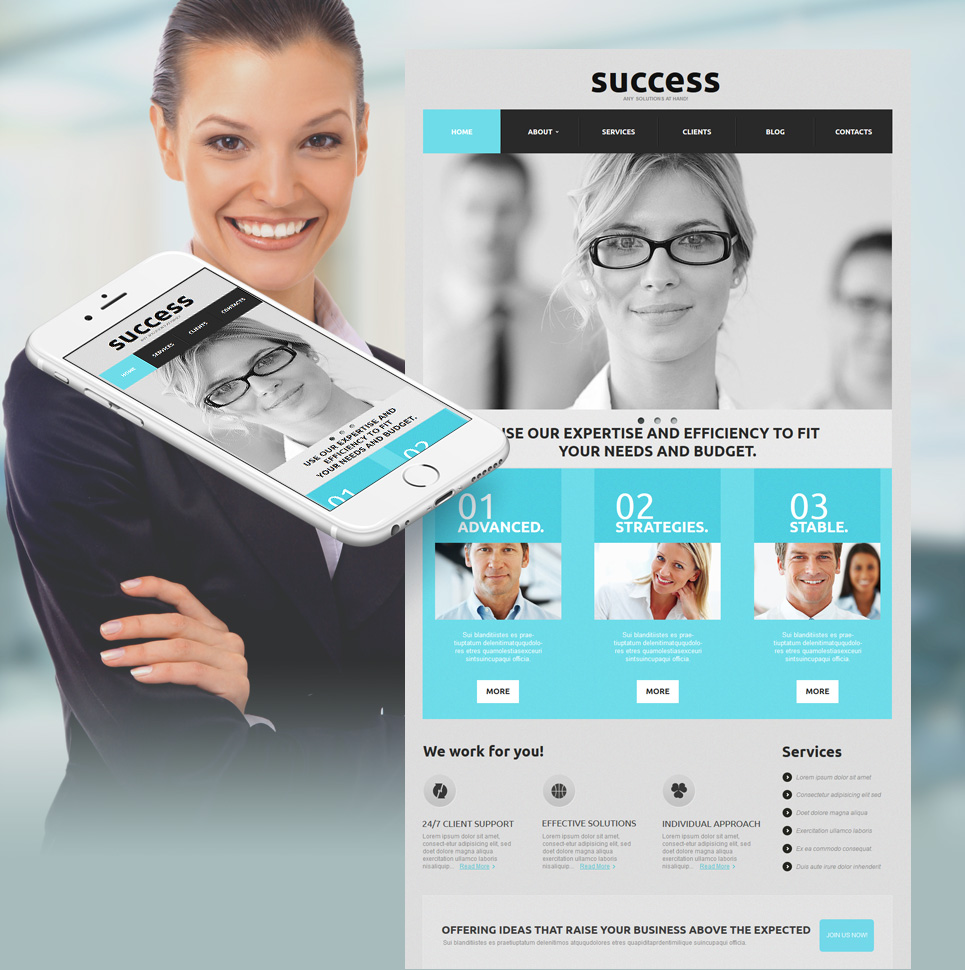 Business Website Template with Soft Gray Design - image