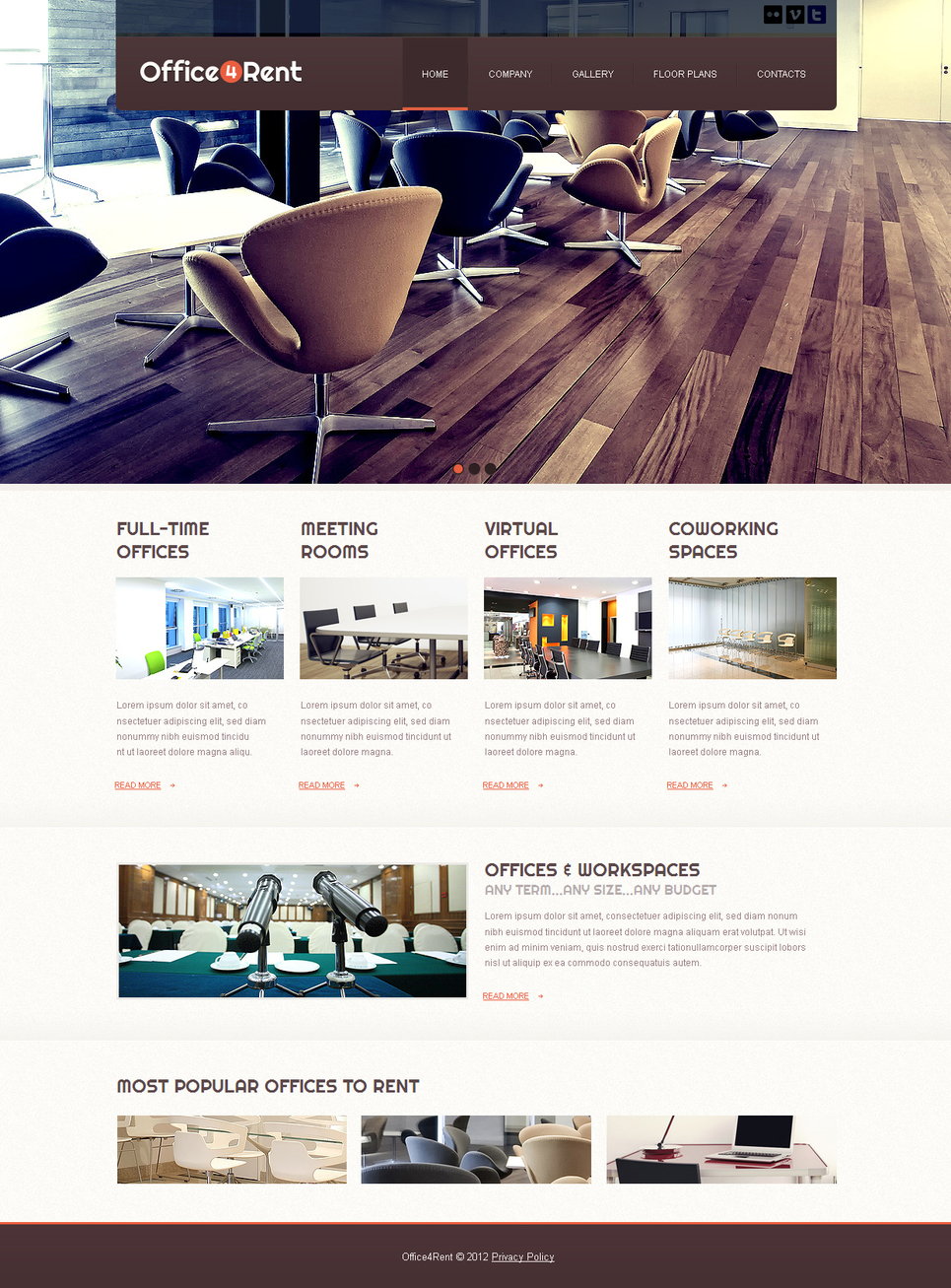 Office Letting Website Template - image