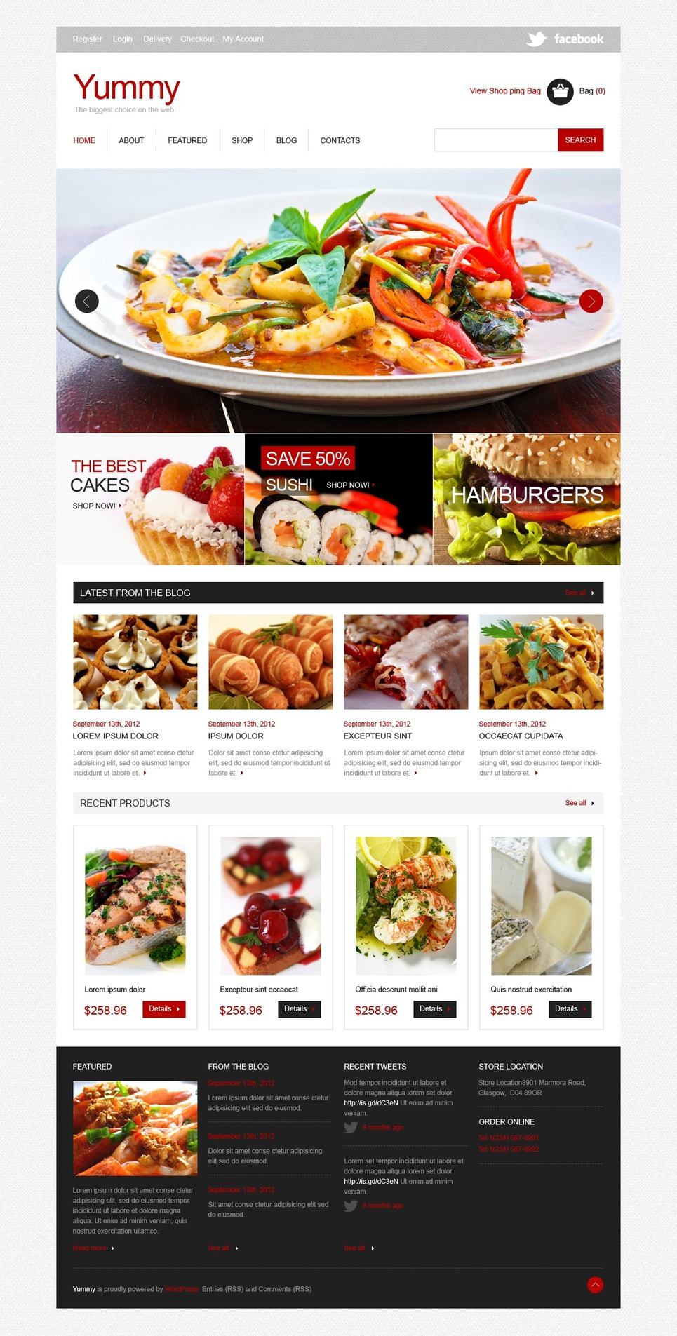 Delicacy Catering Jigoshop Theme