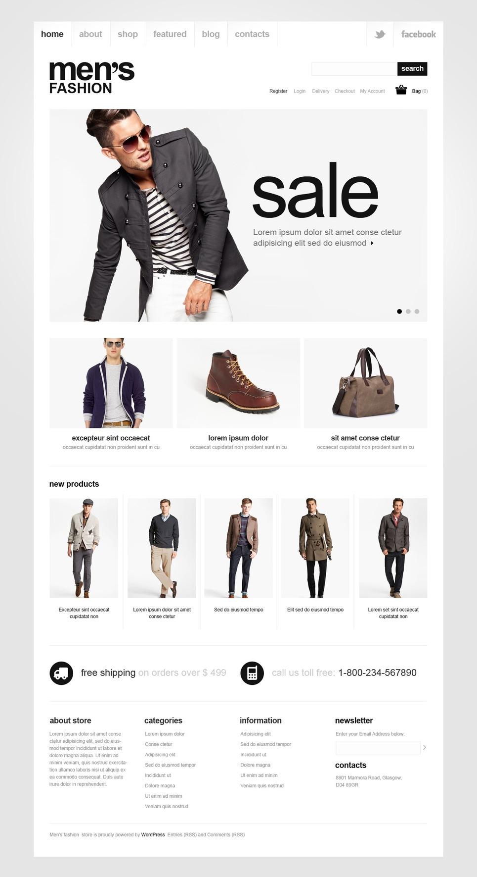 Men's fashion - Stylish Responsive Men's Style Jigoshop Theme