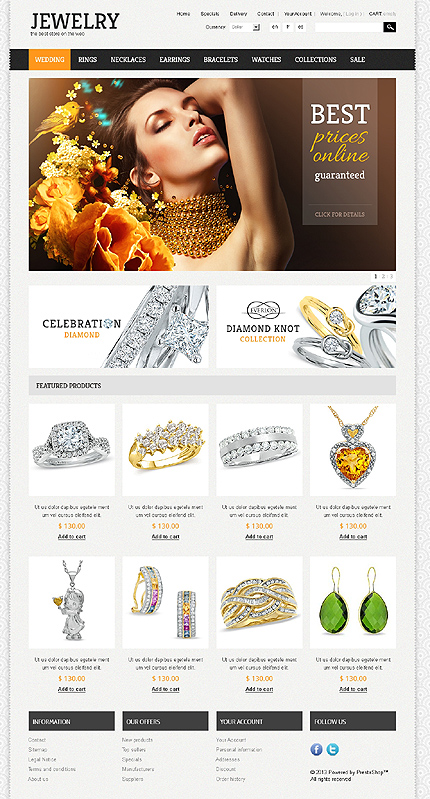 Jewelry - Glorious Online  Jewellery Store PrestaShop Theme