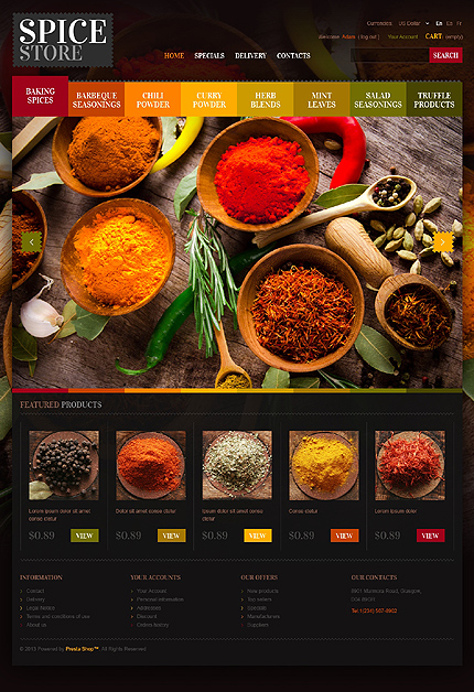 Spices store - Best Chef's Spices Store PrestaShop Theme