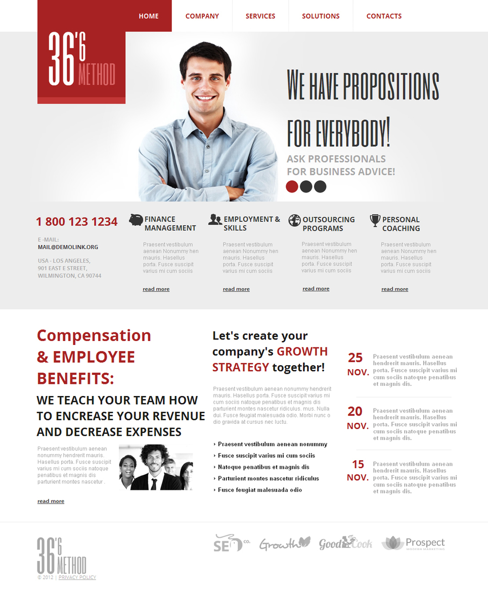 Content-Rich Website Template for Business - image
