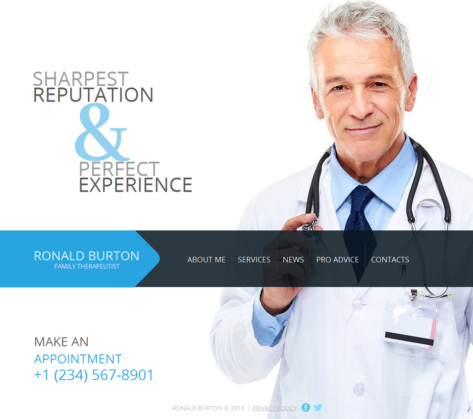 Therapist and Physician Private Practice Website Template - image