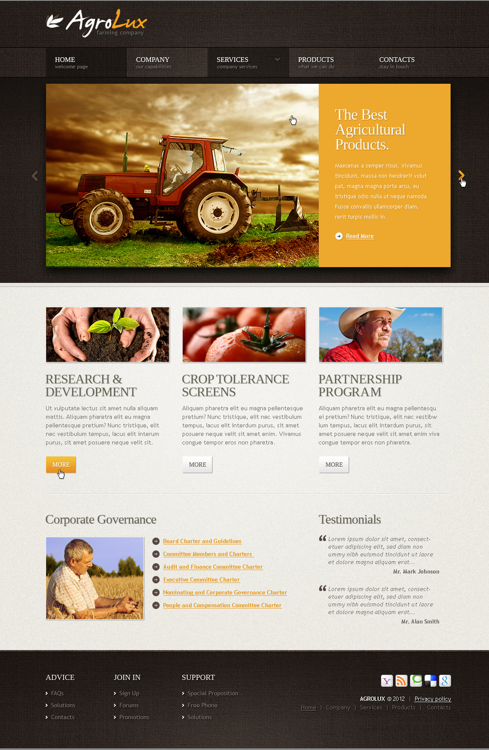 Agriculture Web Template for Farming Companies - image