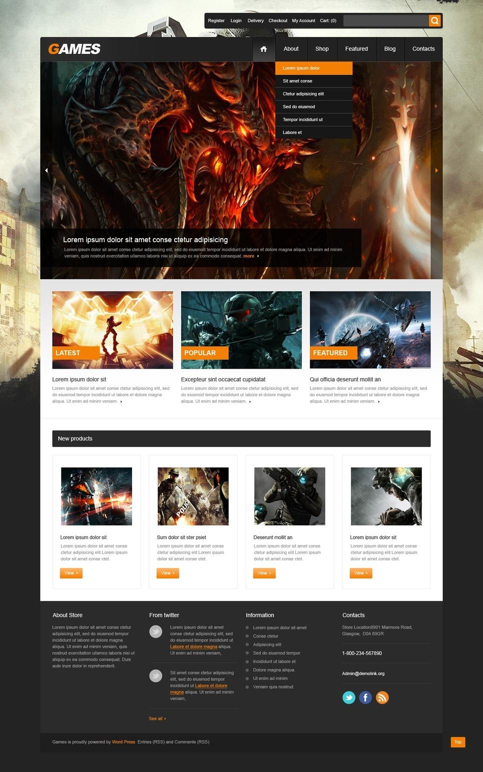 Energizing Gamers' Store JigoShop Theme