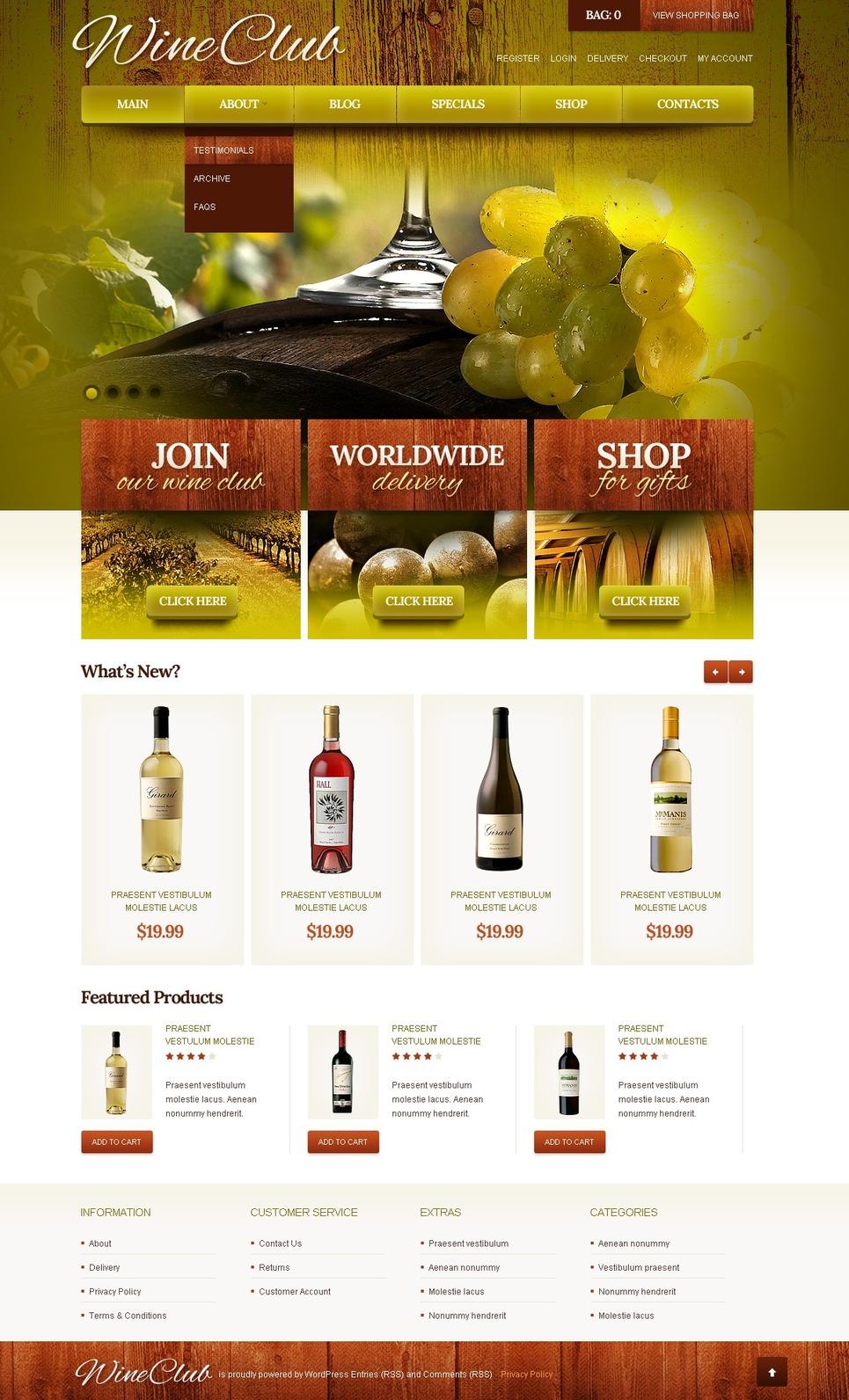 Best Wine club JigoShop Theme