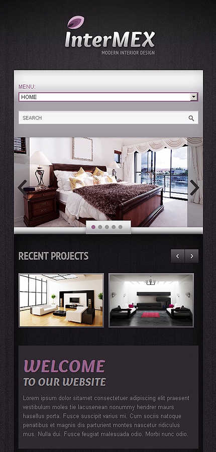 Interior furniture responsive website template web for Interior furniture website