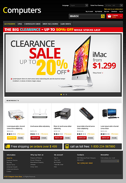 Computers - High-Performance Computer Store Magento Theme