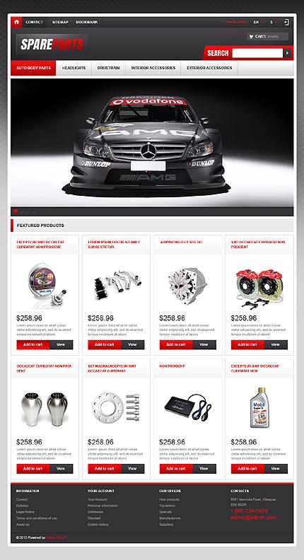 Spare Parts Store - Responsive Prestashop Cars Bike Store Theme