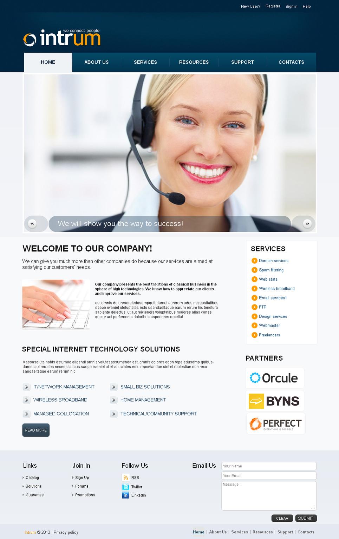 MotoCMS HTML Шаблон #42456 из категории Коммуникации - image