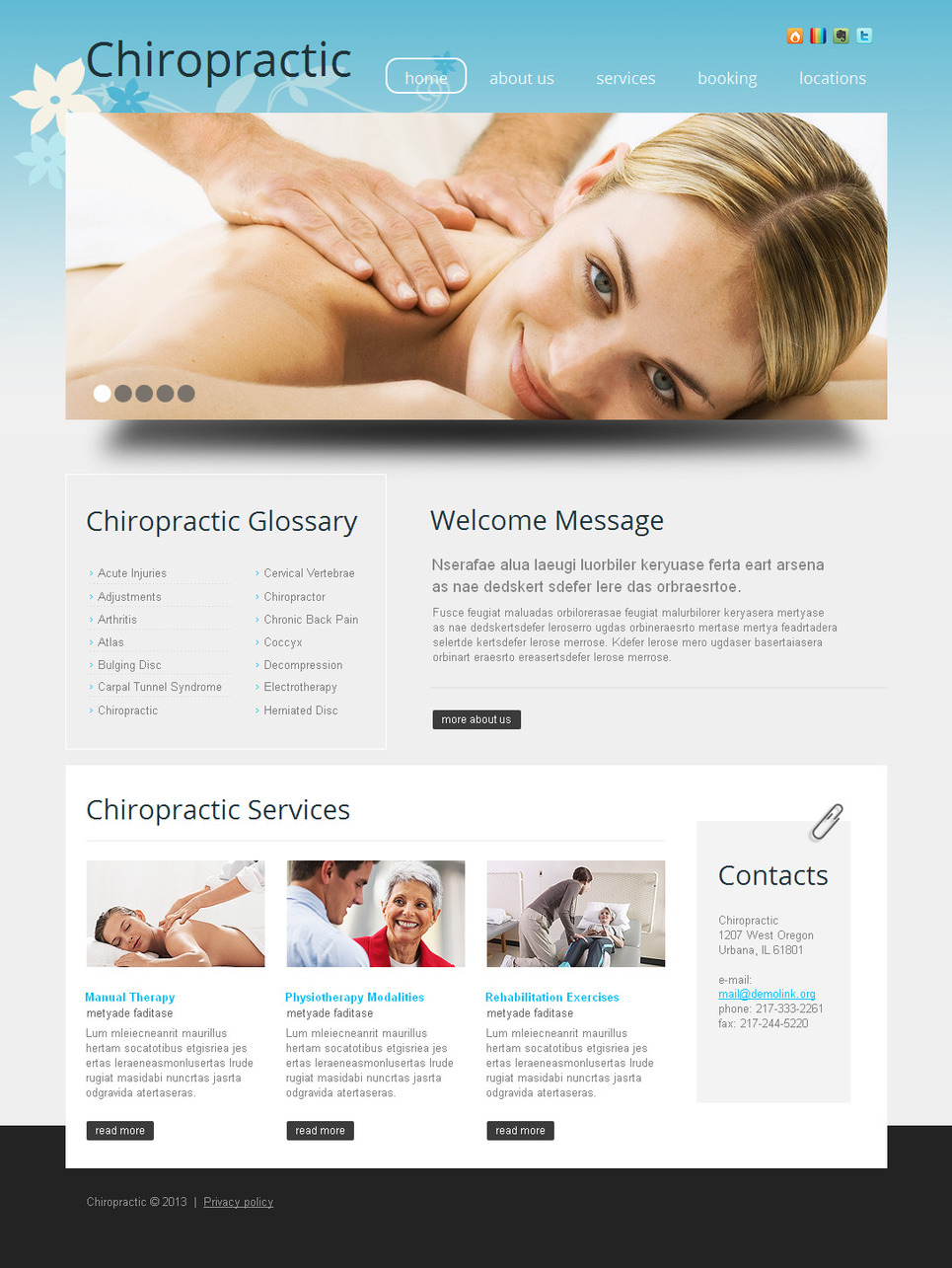 Massage Website Template for Beauty Specialists - image