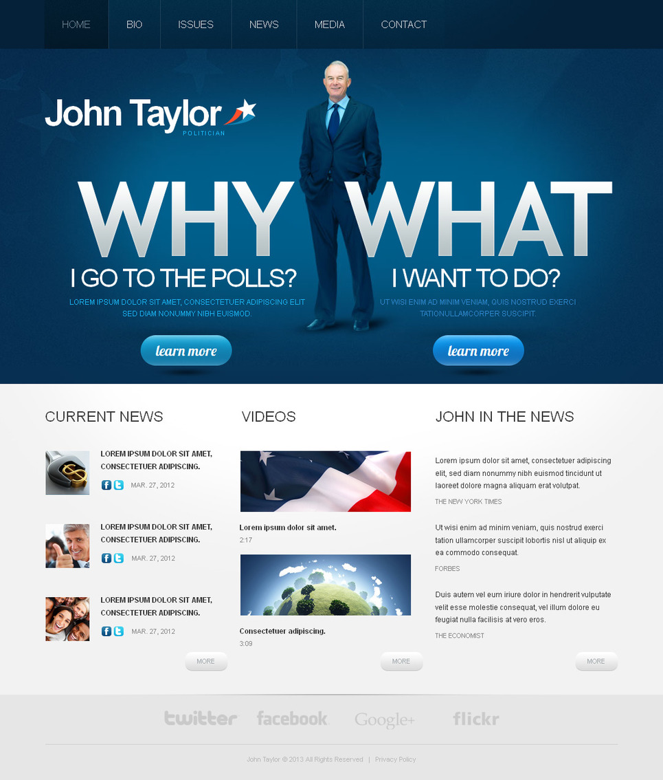 MotoCMS HTML Шаблон #42462 из категории Политика - image
