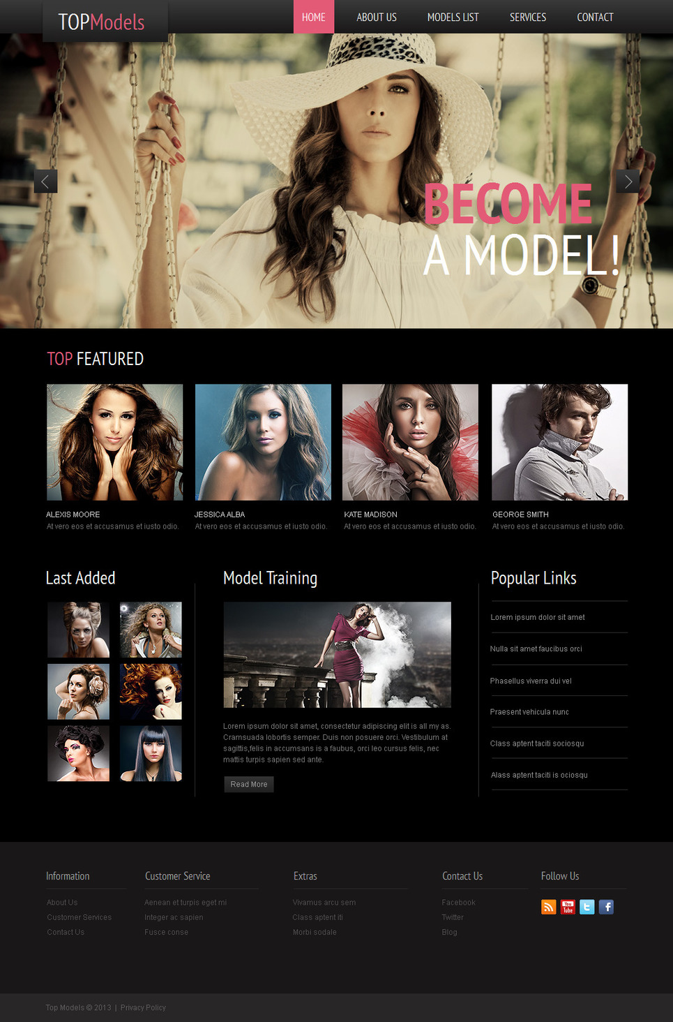 Fashion Website Template for Model Agencies - image