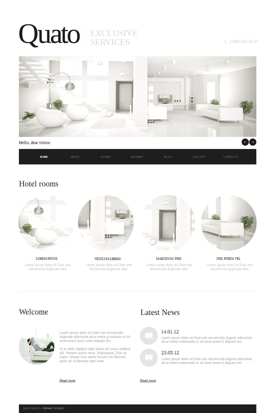 Hotel Website Template Designed In a Clean Style - image