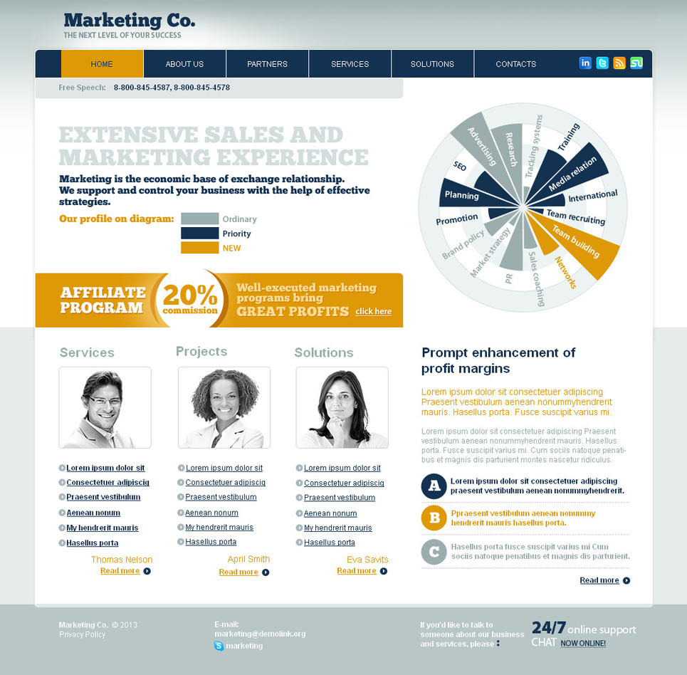 Marketing Website Template with Light Gray Background - image