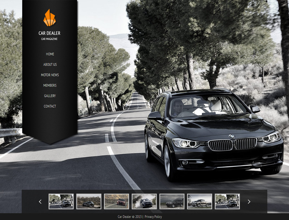 Car Dealer Website Template with a Background Gallery - image