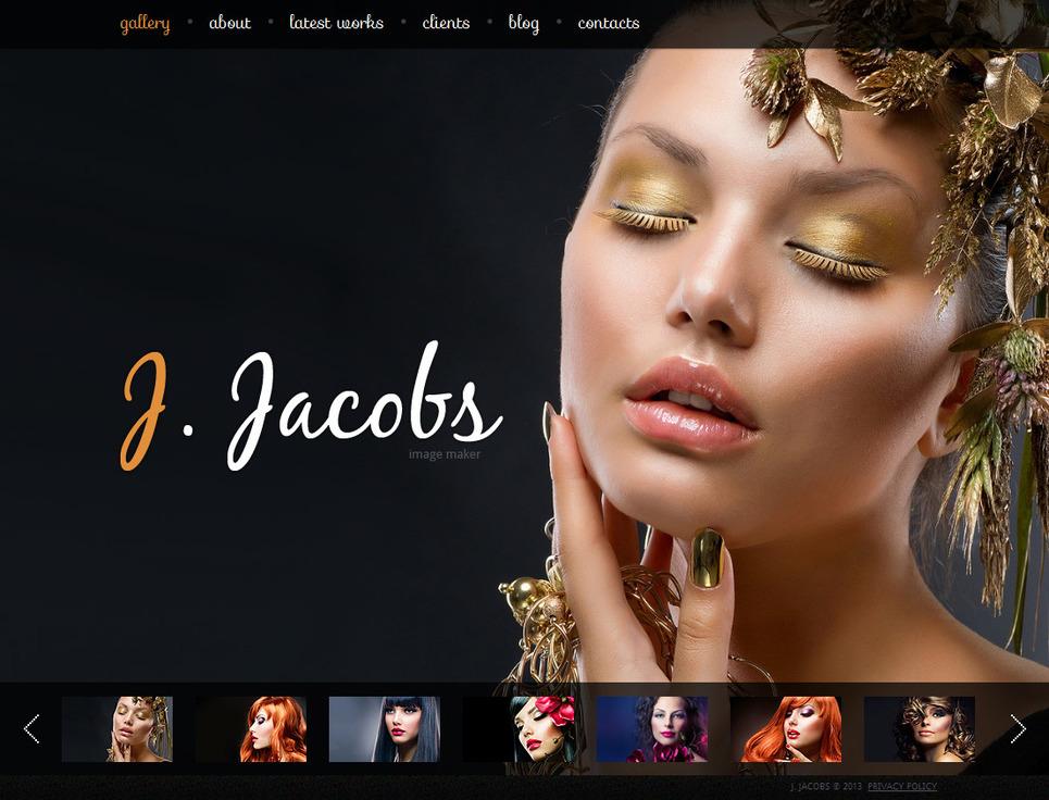 Portfolio Web Template for Fashion Photographers - image