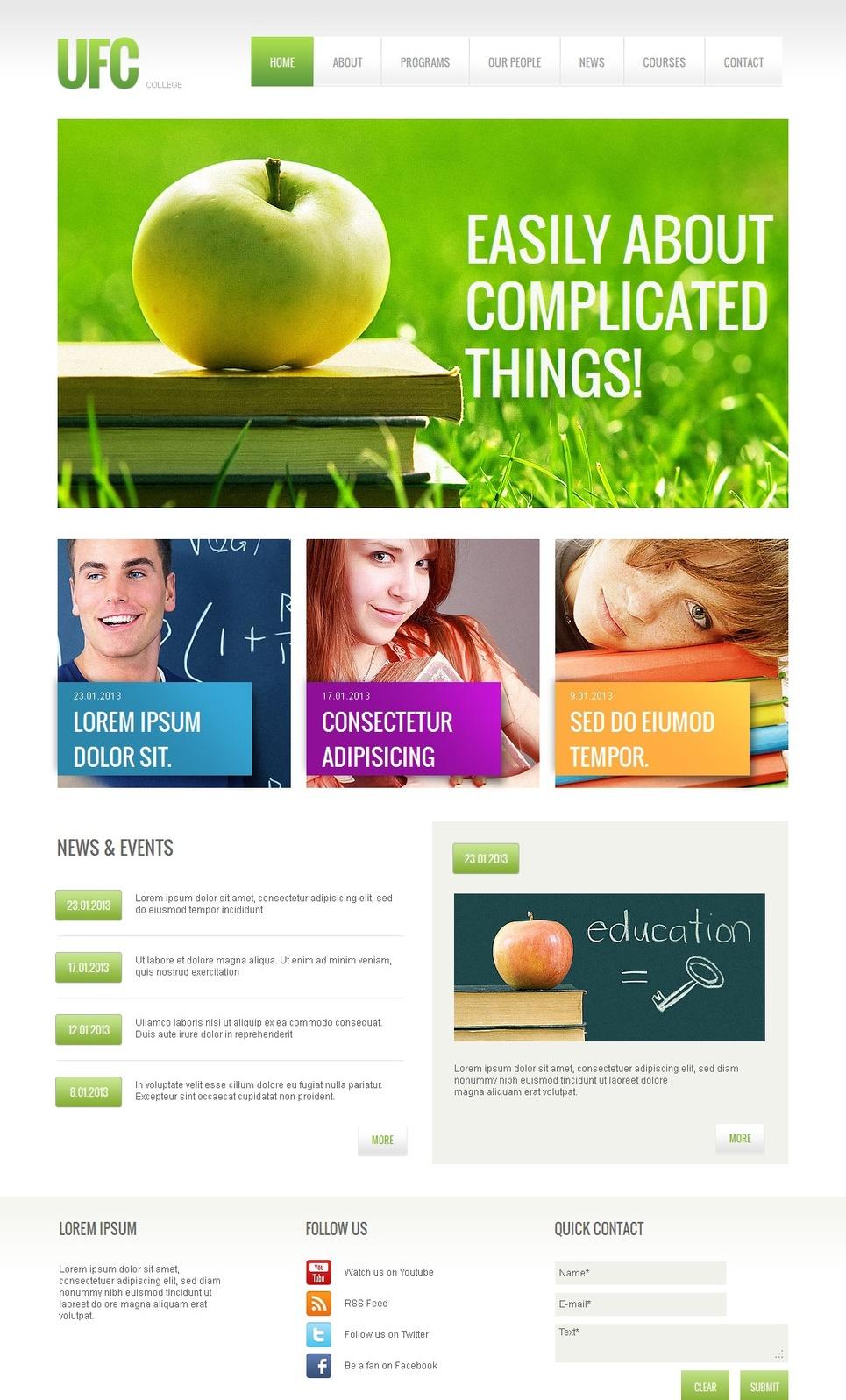 University Website Template for Better Education - image
