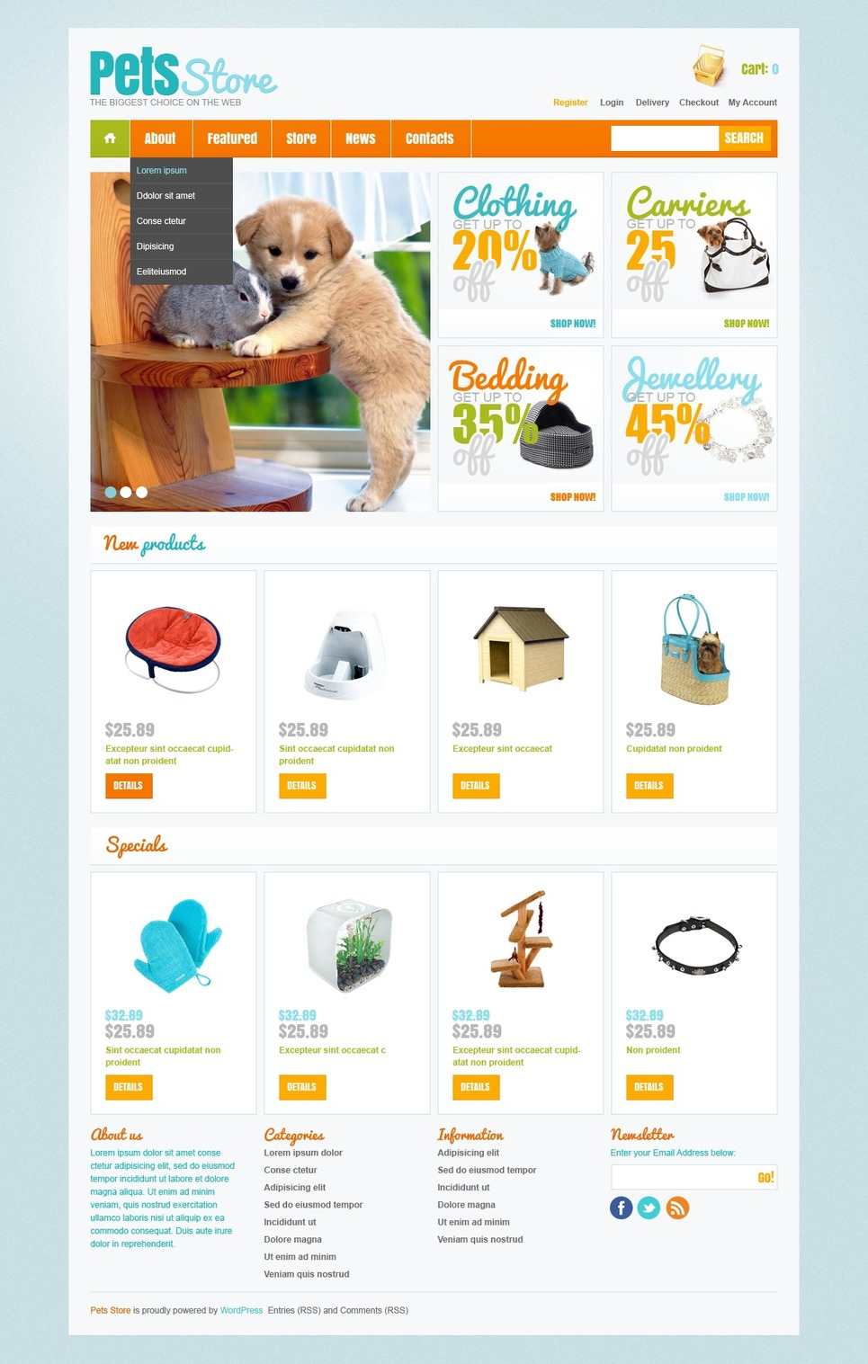 Lovely and Cuddly Responsive Pet Store Theme