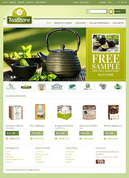 Tea store - Clean Tea Shop PrestaShop Theme