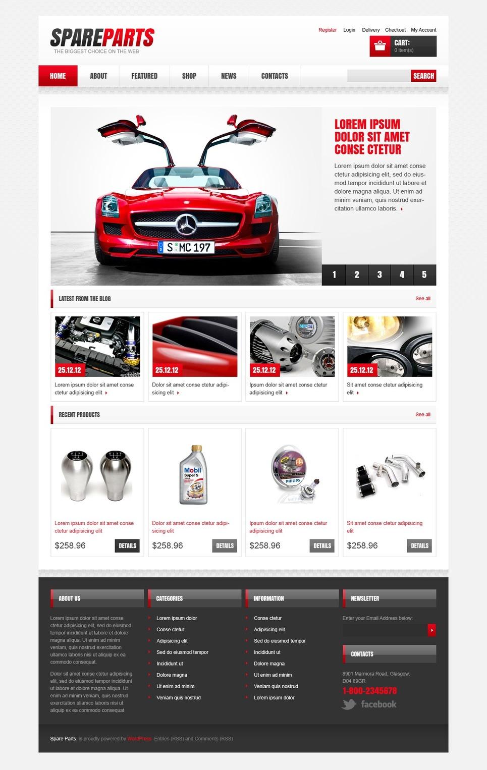 Essential Spare parts Store JigoShop Theme