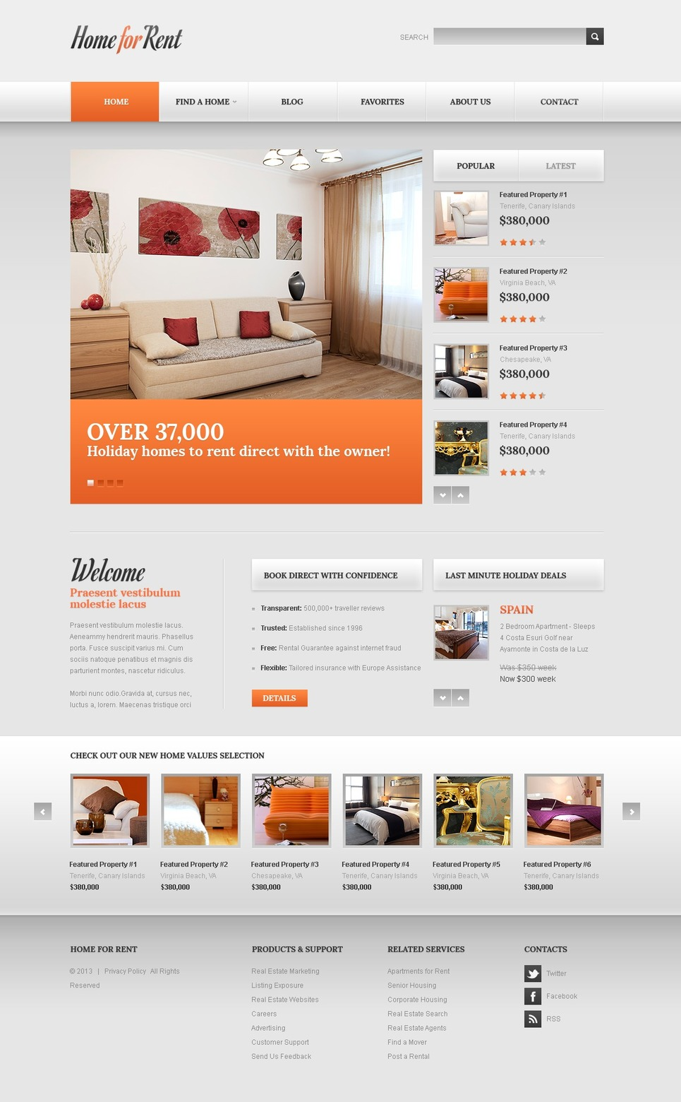 A Real Estate Joomla Template for the Aristocratic Customers