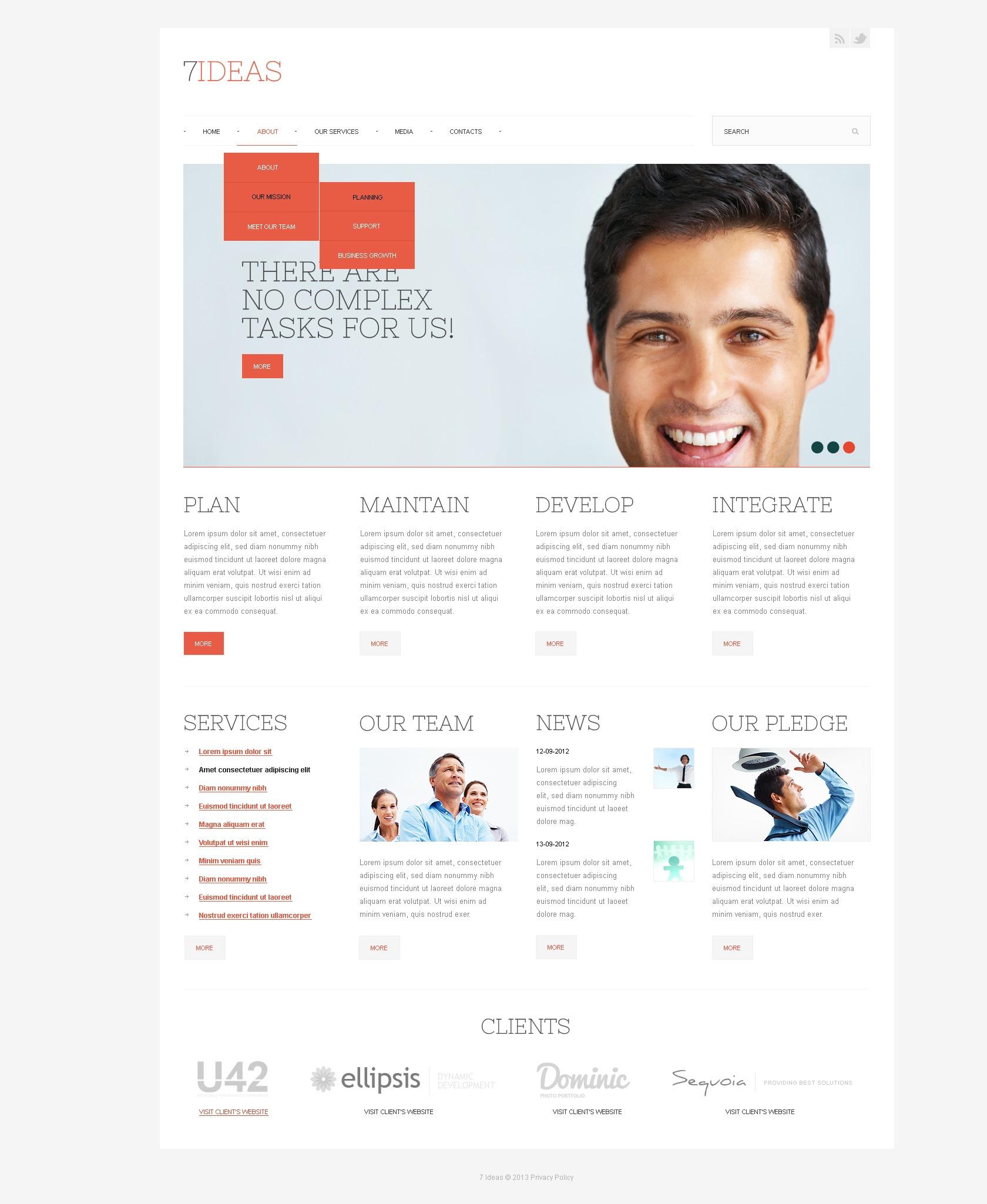 Modello siti web per un sito di it for Siti web di costruzione domestica