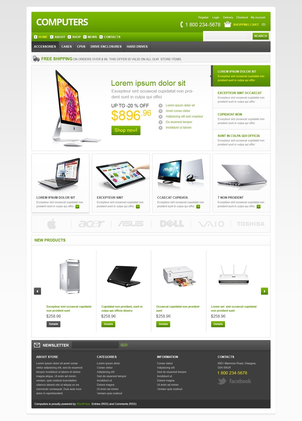 Best Computers Store JigoShop Theme