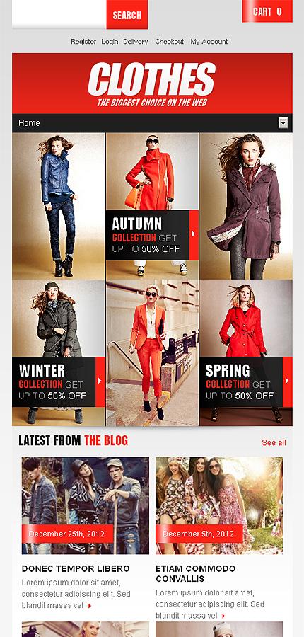 Clothes - Ultimate Responsive Fashion Store Jigoshop Theme