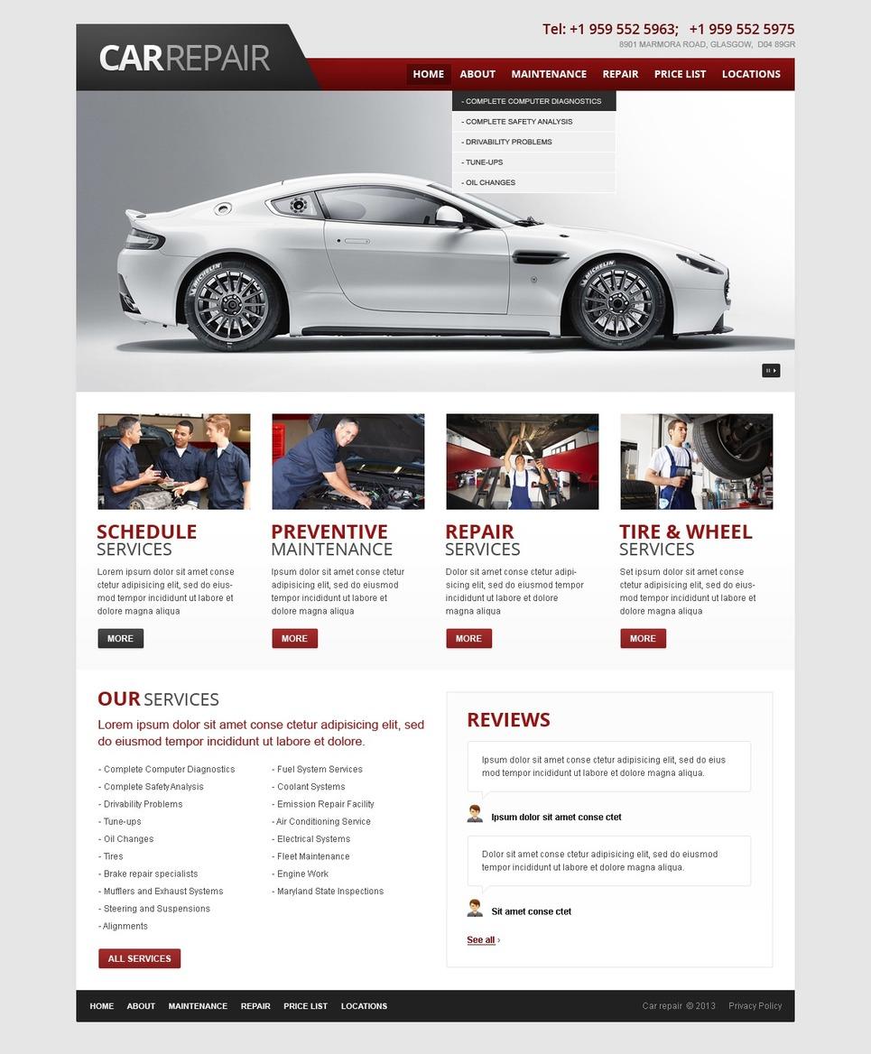 car repair website template 42561. Black Bedroom Furniture Sets. Home Design Ideas