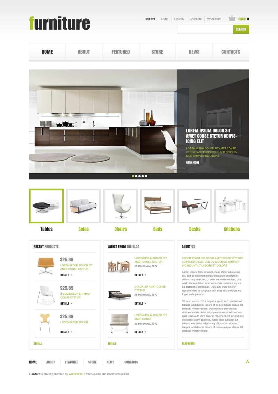 Effective Furniture Store JigoShop Theme